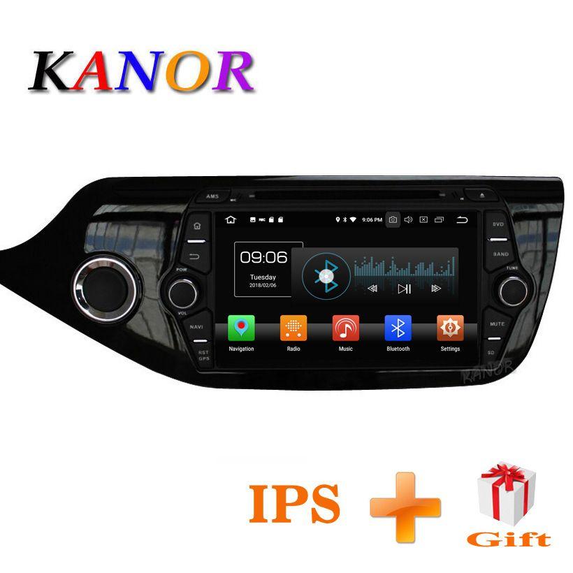 KANOR Android 8.0 IPS Octa core 4+32g Car Multimedia <font><b>Player</b></font> For KIA Ceed 2013 2014 2015 Audio Radio Headunit 2din Android Radio