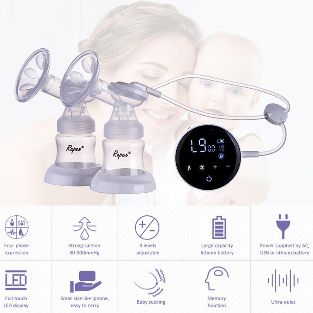 Neue Doppel Elektrische brust pumpen Touchscreen Einzigen Doppel Nippel Saug USB Power Milch Pumpe Mutterschaft Pflege Zubehör