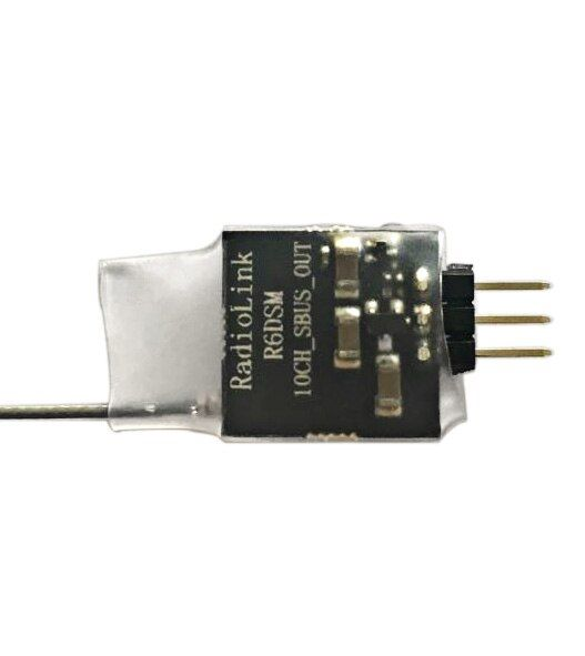 F19119 JMT Radiolink R6DSM 2.4G 10 Channel 10CH RC Receiver DSSS & FHSS RX for TX Transmitter AT9 AT9S AT10 AT10II