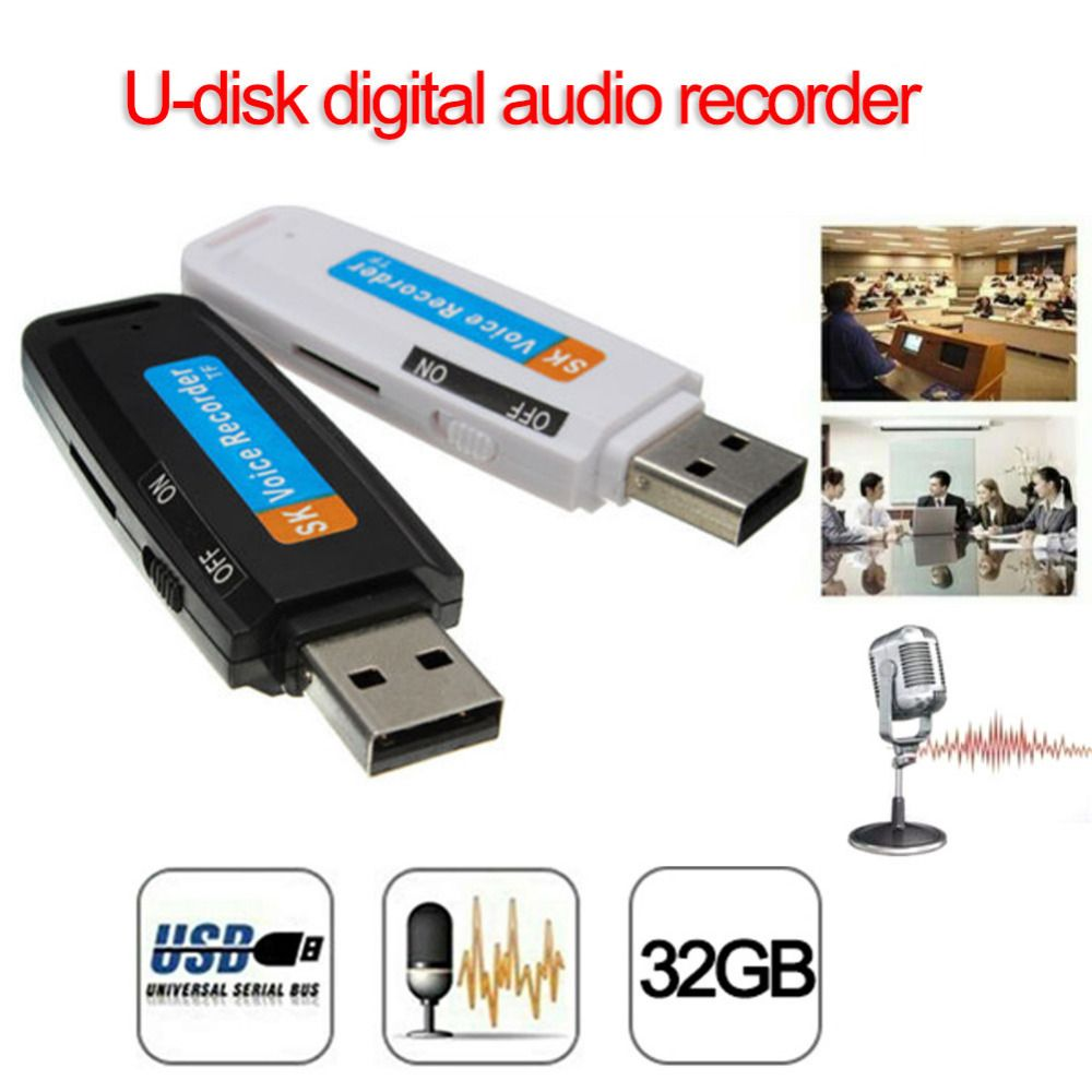 2019 New arrival U-Disk Digital Audio Voice Recorder Pen charger USB Flash Drive up to 32GB Micro SD TF High Quality J25