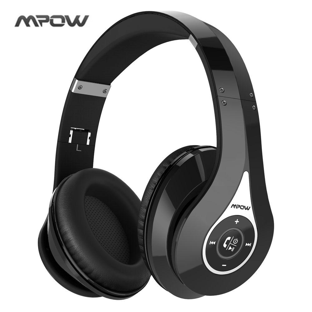 Mpow Bluetooth Headphones Noise <font><b>Cancelling</b></font> Wireless Over-ear Stereo Foldable Headphone Ergonomic Design EarmuffsBuilt-in Mic