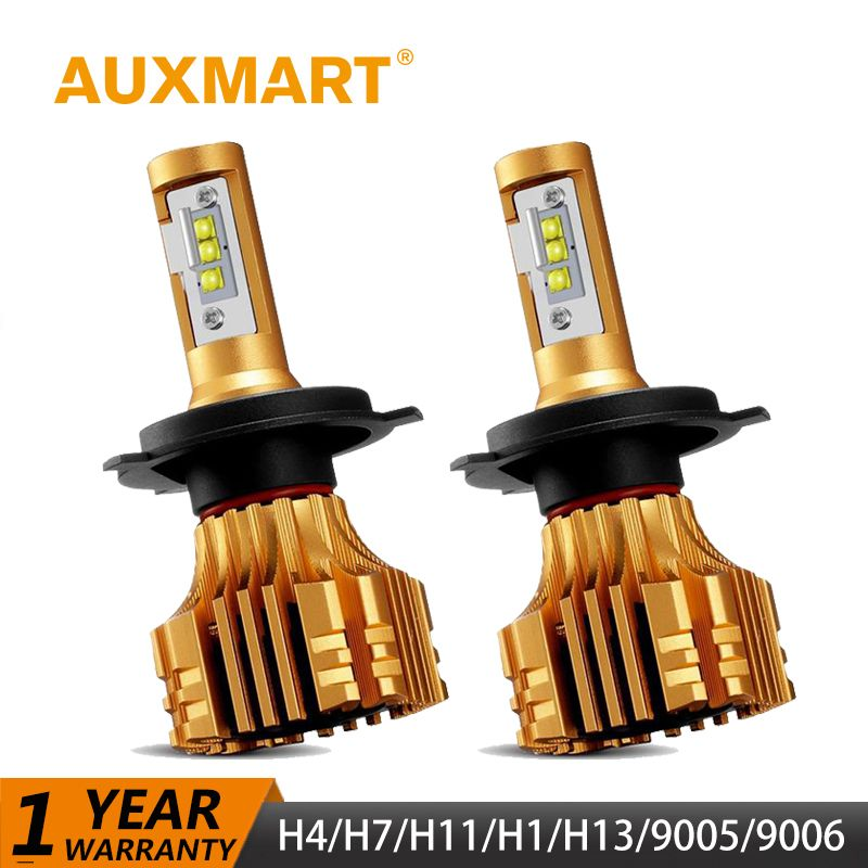 Auxmart 70W Headlight H4 H7 LED Bulb H11 H1 9006/HB4 9005/HB3 H13 Car LED Bulbs Headlamp Kit 7000lm Combo Beam Fog Lamp Auto 24v