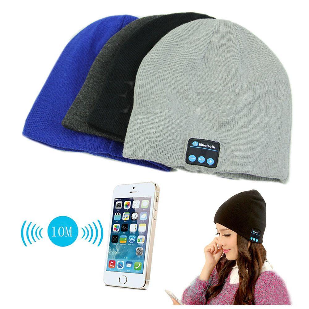 Новая мягкая теплая Шапка-бини Беспроводной Bluetooth Smart Кепки наушники гарнитуры Динамик MIC Горячие py1