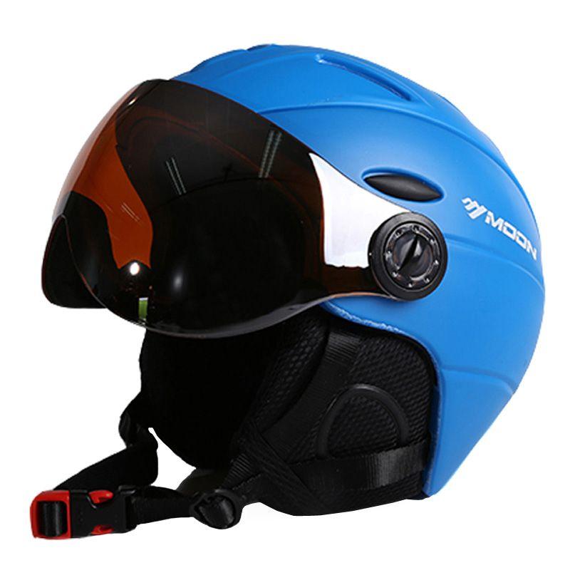 Moon half-abgedeckt ce-zertifizierung ski helm integral geformten outdoor sportbrillen skihelm snowboardhelm