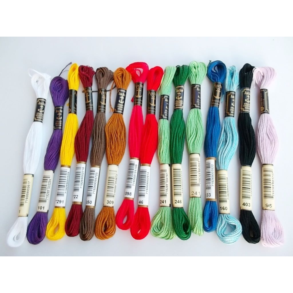 100 skeins embroidery floss embroidery thread 8m 6-ply multicolor color colorful crafts
