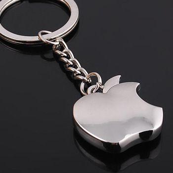 New Arrival Metal Apple Key Chain Creative Gifts Apple Keychain Key Ring Trinket car key ring car key ring