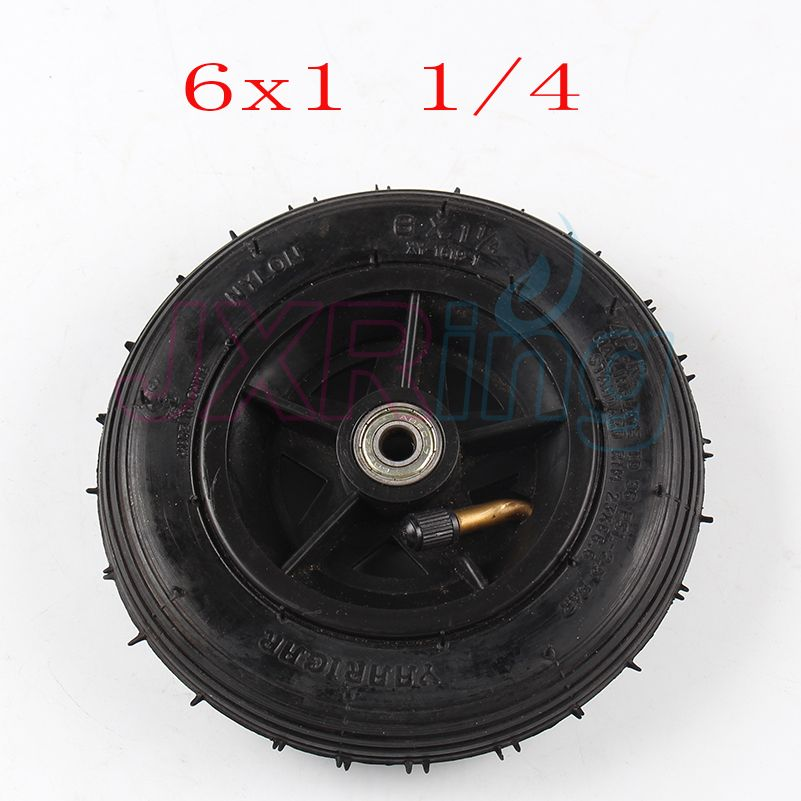 Motorcycle 6x1 1/4 tyre 150MM Scooter Inflation Wheel With Aluminium Hub With Inner Tube Electric Scooter 6 Inch Pneumatic Tire