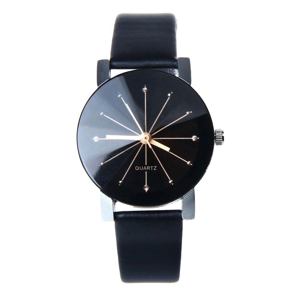 CLAUDIA Fashion 2017 Unisex Watches Women Men Casual Leather Hour Digital Quartz Analog Wrist Watch Clock Relogio Feminino hours