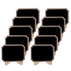 10 unids madera mini Pizarras pizarra signo mensaje con colgar cadena partido decoración de la boda suministros matrimonio 10*7.5 cm