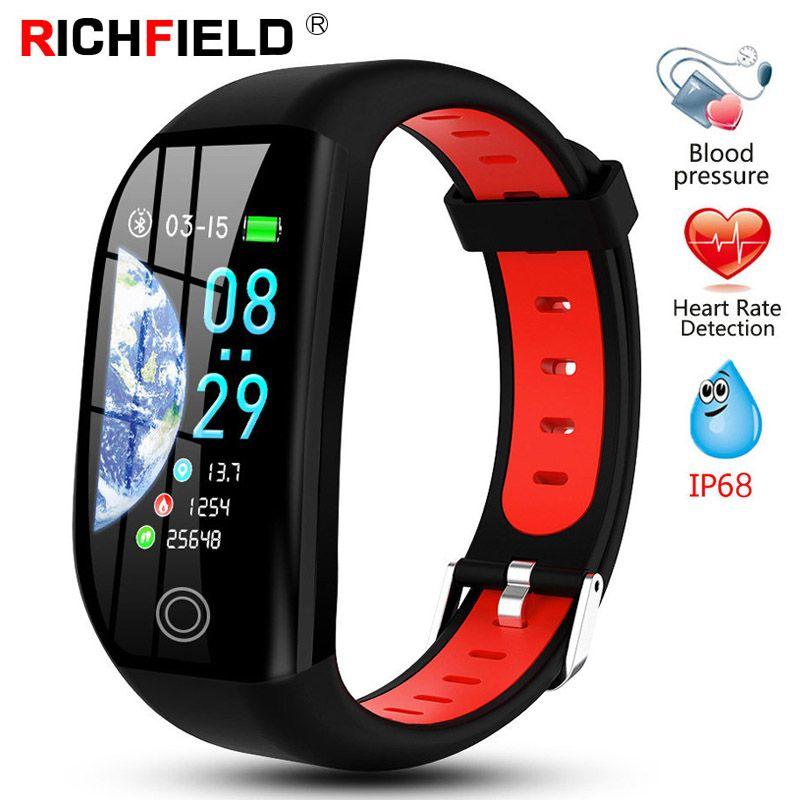 F21 Smart Bracelet Men Women IP68 Blood Pressure Watch Sleep Monitor Smart Band Health Wristband Fitness GPS Activity Tracker