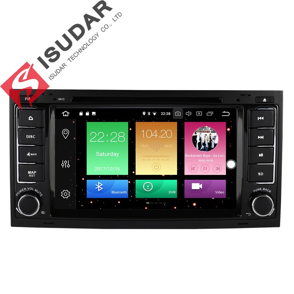 2 Din 7 Inch Android 8.0 Car DVD Player For VW/Volkswagen/Touareg/Transporter T5 Multivan GPS Navigation Radio 8 Cores 32GB ROM