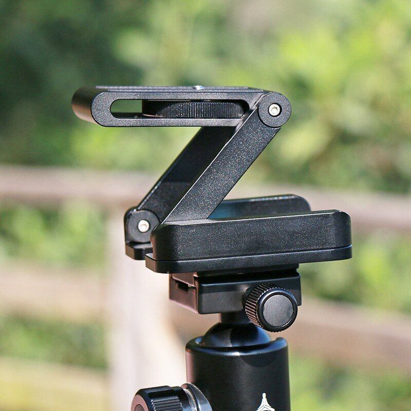 Ulanzi Z Flex tête de trépied inclinable en alliage d'aluminium plaque de fixation rapide pliable niveau à bulle pour appareil photo de téléphones