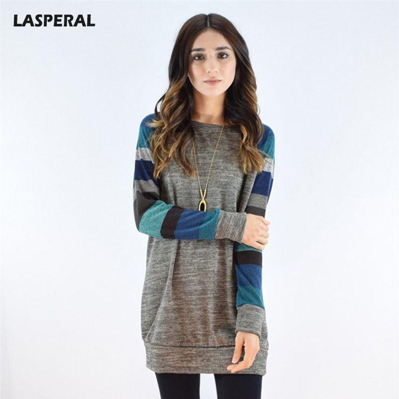LASPERAL 2017 Autumn Patchwork Long Hoodies Sweatshirt Women Casual Printing Slim Fit Hooded Hoody Ukraine Pullovers Female