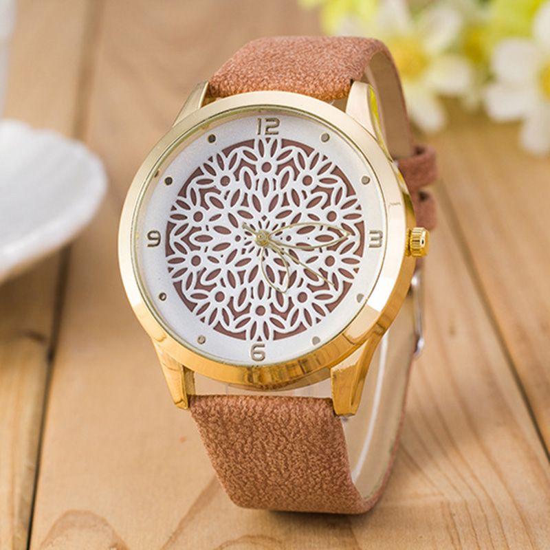 2017 новейшие цветок печатных часы модные женские туфли Аналоговые кварцевые наручные часы новый дизайн простой женская обувь кожа Reloj Relogio