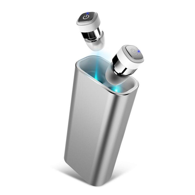 TWS K6 Mini Bluetooth Earphone Wireless Earbuds Stereo 2400mAh Power Bank for phone sport IPX7 waterproof with microphone