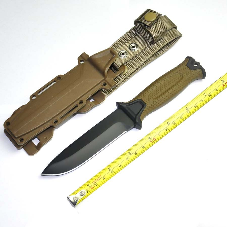 Hot SDIYABEIZ Outdoor Survival Knife Hunting Fixed Blade Knives Straight Knife Tactical EDC Knives Camping Tools FF