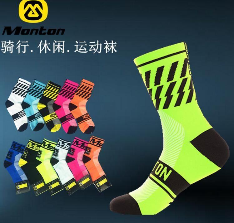 Monton Unisex Herren Radfahren Socken Bike Schuhe für Straßen NEUE Socken Außerhalb Sport Tragen anti-geruch Fahrrad socke