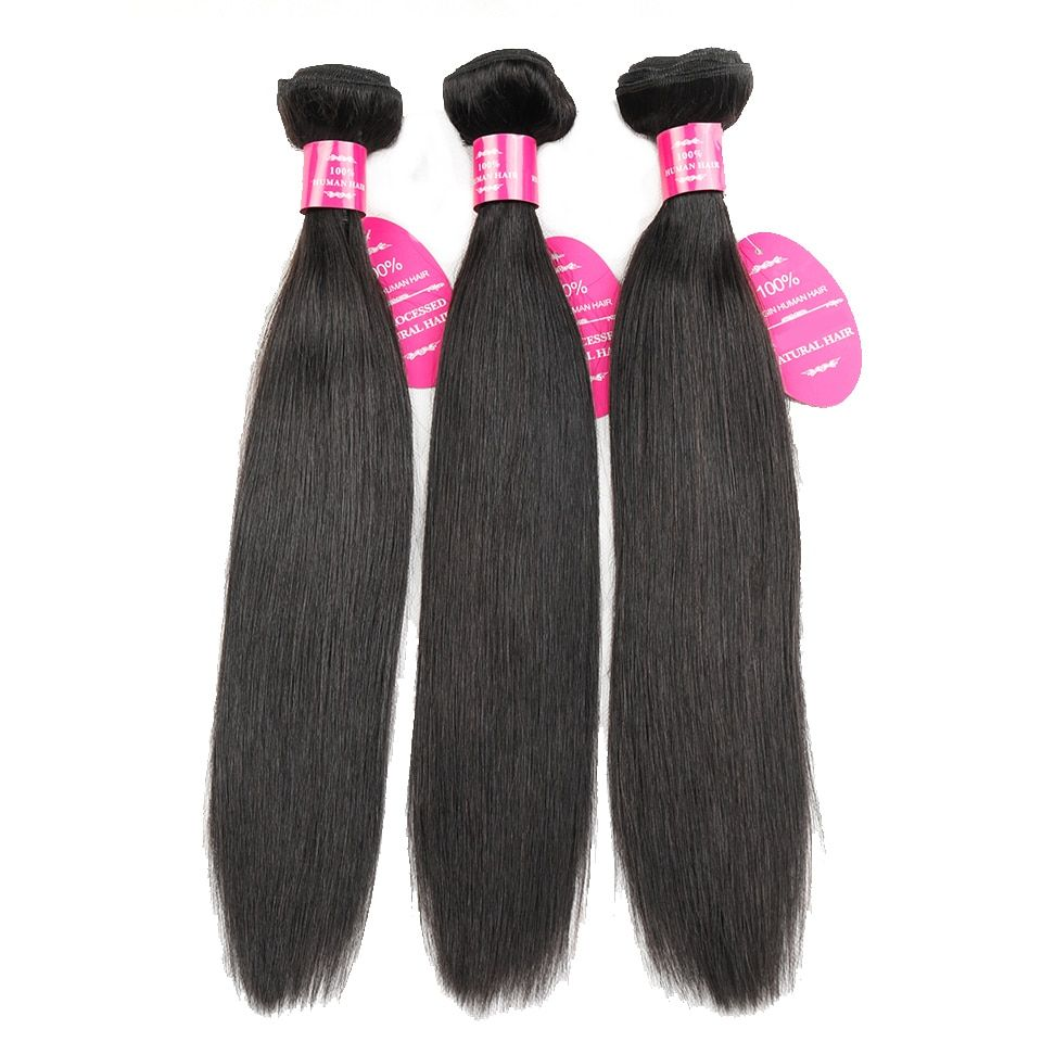 QueenLike Hair Products 3 Pieces/lot Brazilian Straight Hair 100% Human Hair Natural Color Remy Brazilian Hair Weave Bundlles