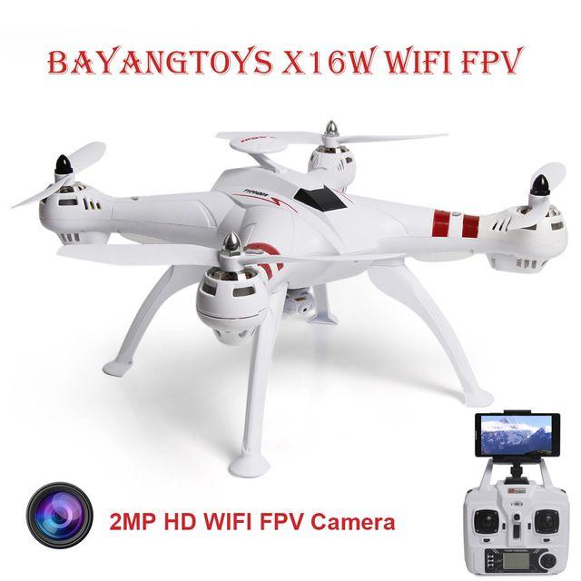 BAYANGTOYS X16 Professionnel GPS RC Drone avec Cam Moteur Brushless 2.4G 4CH 6 Axes Quadcopter RTF Automatique Retour RC hélicoptère