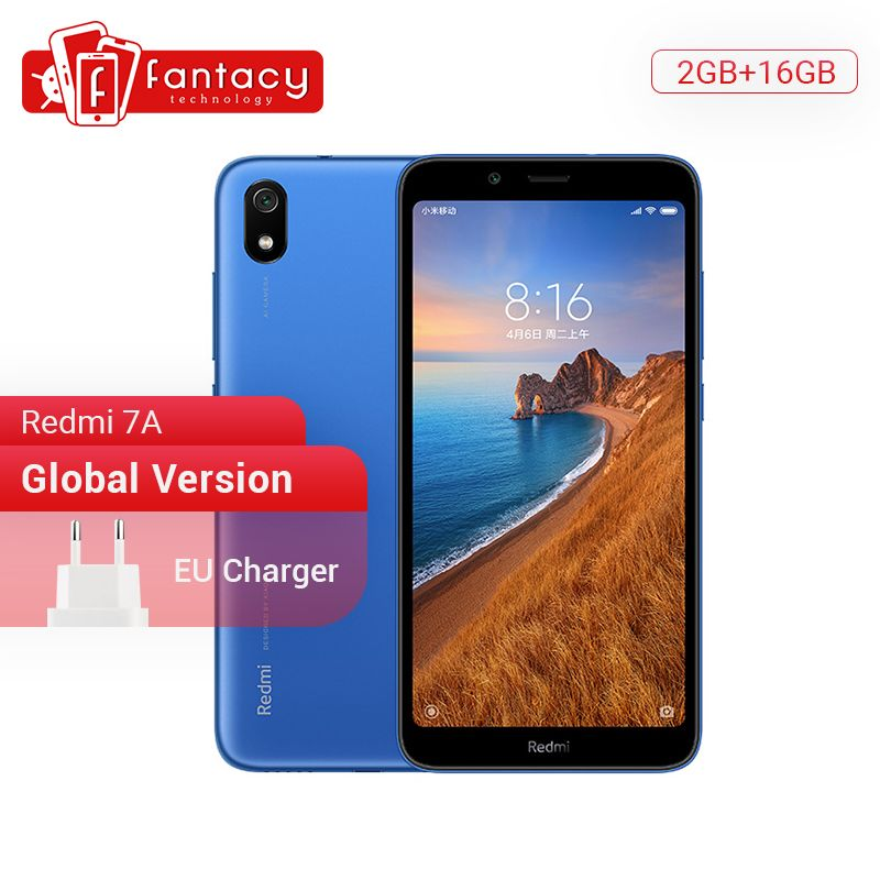 In Stock Global Version Xiaomi Redmi 7A 7 A 2GB 16GB 5.45 Snapdargon 439 Octa core Mobile Phone 4000mAh 12MP Camera Smartphone