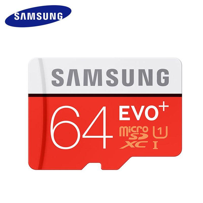 Nouveau SAMSUNG MicroSD 64 GB Carte Mémoire carte micro sd 64 gb classe 10 TF Trans Flash Mikro memoria micro sd samsung evo plus 64 gb