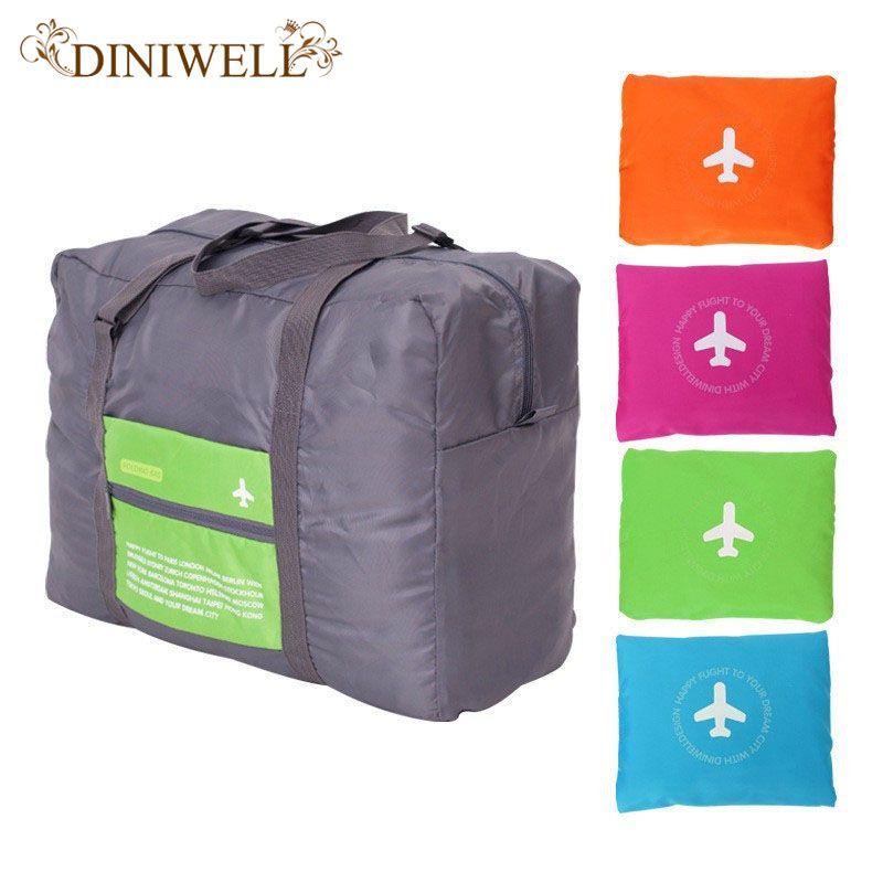 DINIWELL 32L Grande Capacité Bagages Emballage Fourre-Tout/Épaule Voyage Shopping Grand Sac Pliage Vêtements Pochette De Rangement Organisateur