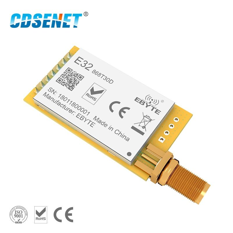 1 pc 868 mhz LoRa SX1276 rf Module Longue Portée E32-868T30D UART 1 w iot rf Émetteur-Récepteur 868 mhz Ebyte rf Émetteur et Récepteur