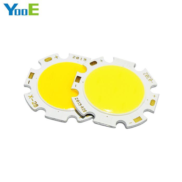 YooE 10 Pcs/lots 3 W 5 W 7 W 10 W 12 W rond COB LED puce SMD haute puissance lumières lampe ampoule blanc chaud/froid