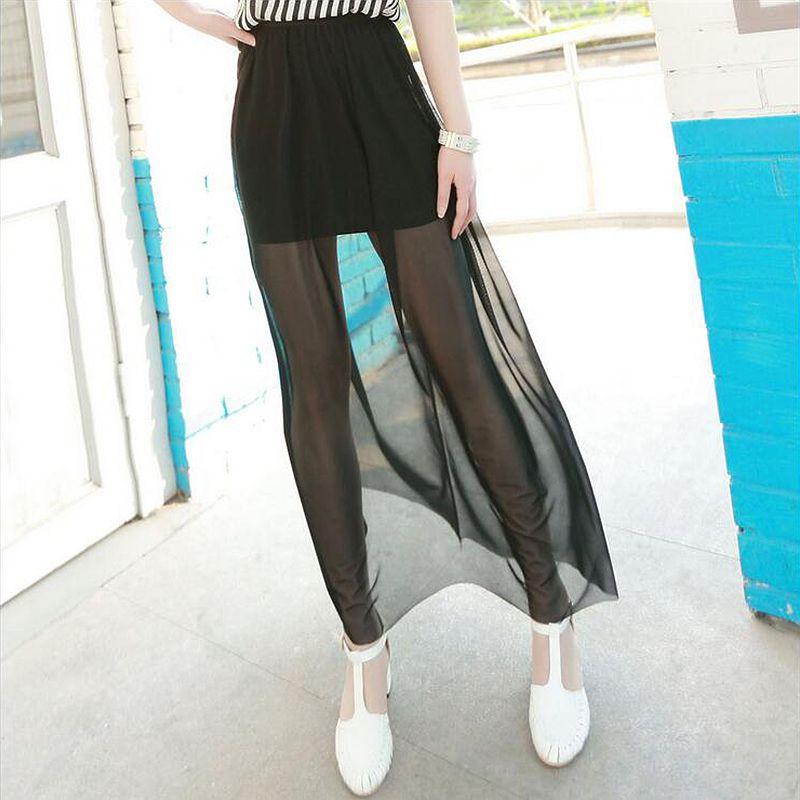 LANBAOSI été mode Sexy femmes longues Tulle jupes Transparent maille Maxi Midi jupe saias faldas femininas