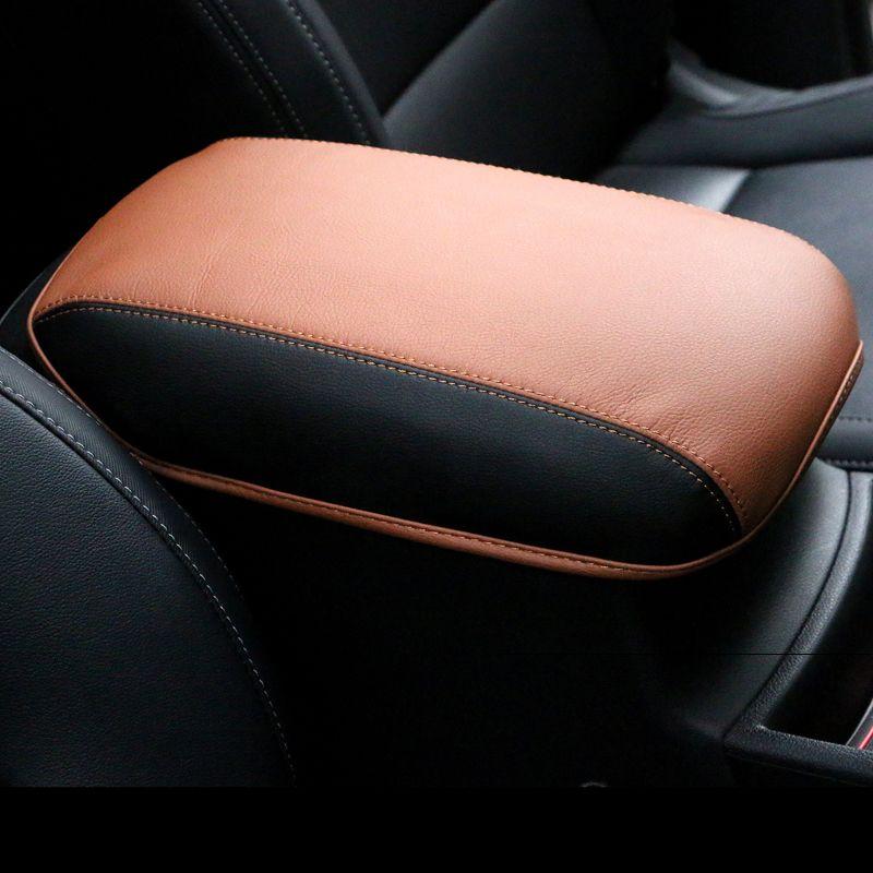 Accoudoir de voiture en cuir Console centrale repose-bras siège boîte protection à l'entraînement pour Kia Sportage 2016 2017 2018 2019 accessoire