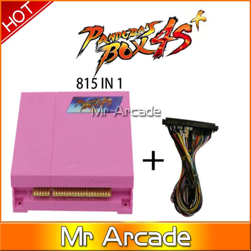 Оригинальный ящик Пандоры 4S плюс 815 в 1 Аркада картридж Джамма мульти настольная игра с VGA и выход HDMI