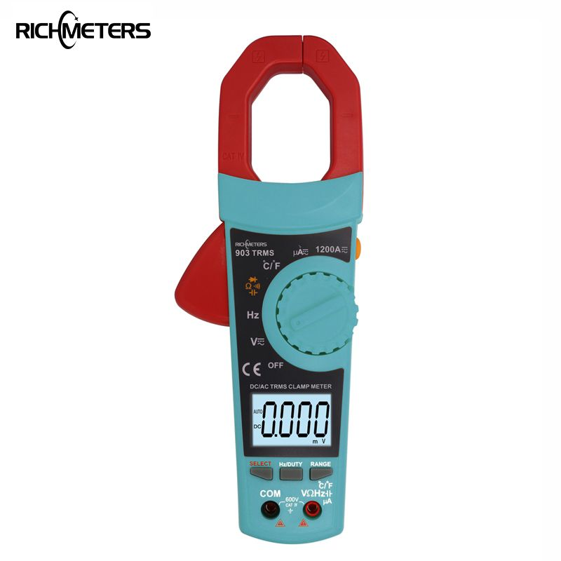 RICHMETERS 903 Digital Clamp Meter Ammeter 1200A multimeter Voltmeter AC DC Voltage Meter Temperature