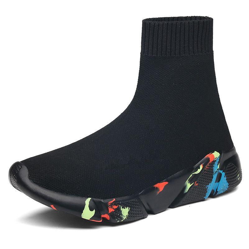 2019 neue Turnschuhe Frauen Männer Stricken Oberen Atmungsaktive Sport Schuhe Socke Stiefel Klobigen High Top Laufschuhe Drop Verschiffen