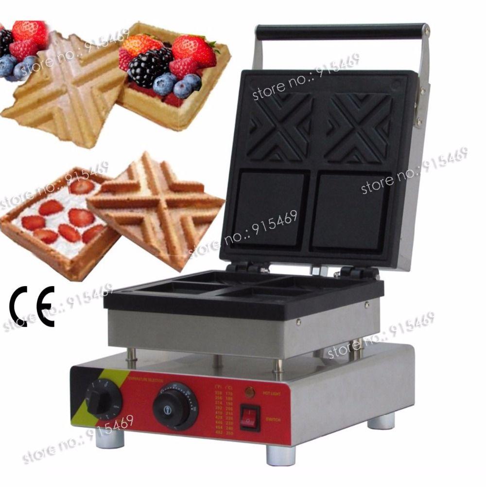 Freies Verschiffen Kommerziellen Verwenden Nicht-stick 110 v 220 v Elektrische Sandwich Waffel Schüssel Maker Bäcker Form Maschine