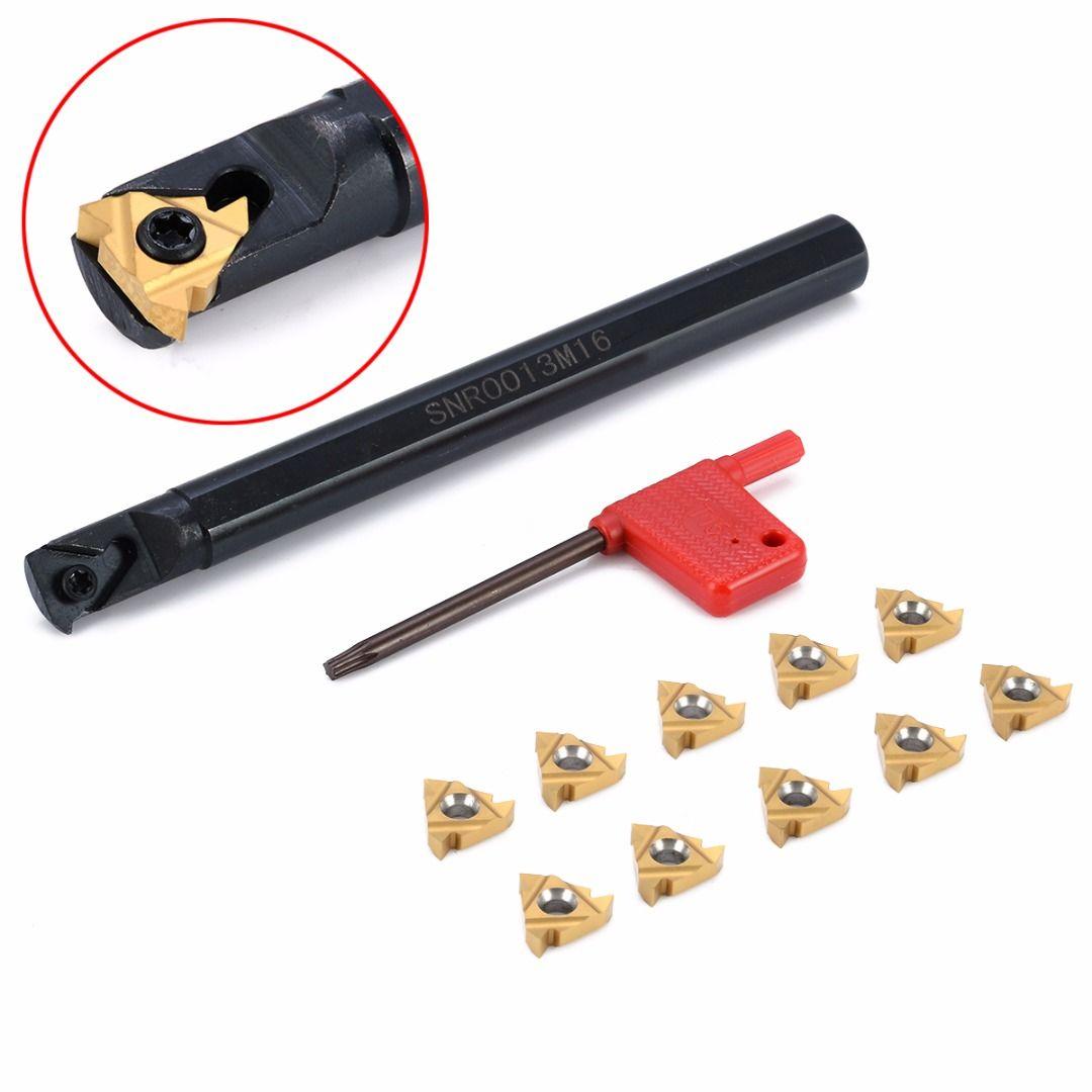 1 stück SNR0013M16 Werkzeughalter Bohrstange + 10 stücke Einsatz mit Schlüssel Für Cnc-drehmaschine Threading Drehwerkzeuge