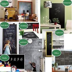 Vodool 110X45 Cm Papan Tulis Stiker Dinding Kreatif Vinyl Record Desain Papan Tulis Yang Dapat Dilepas Dihapus Menggambar Sekolah Office Supplies