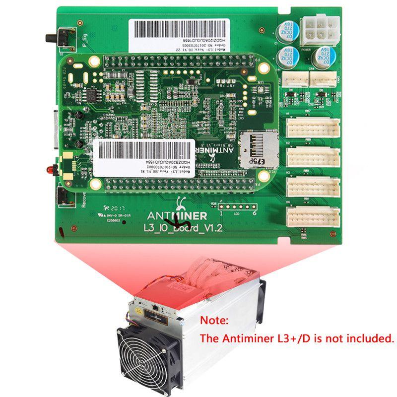 Neue Steuerkarte Bitcoin Mining Maschine Teile Dashboard Umfassen IO board und BB Foren Karte für ANTMINER L3 +/D Ersatzteile