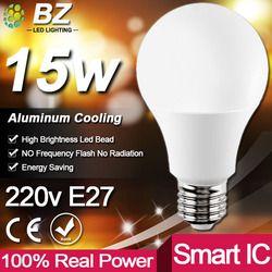 Réel Puissance LED Ampoule E27 LED Lampada Ampoule Bombilla 3 W 5 W 7 W 9 W 12 W 15 W 18 W LED Lampe 220 V Froid/Chaud Blanc Led Spotlight