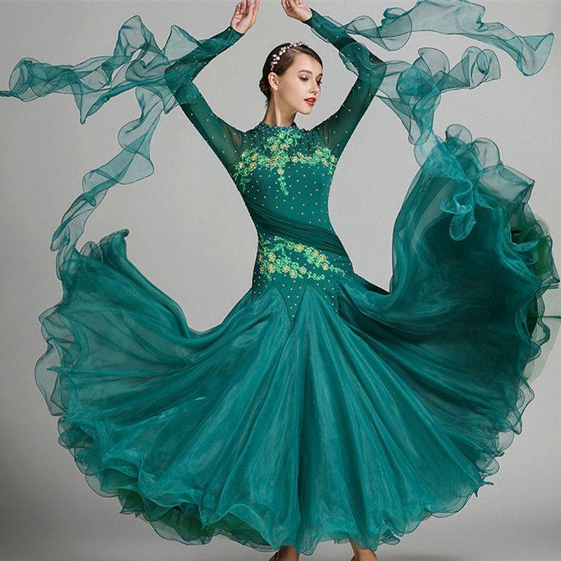 9 farben rot blau ballroom dance wettbewerb kleider walzer dance kleid fringe leucht kostüme standardballsaal kleid foxtrot