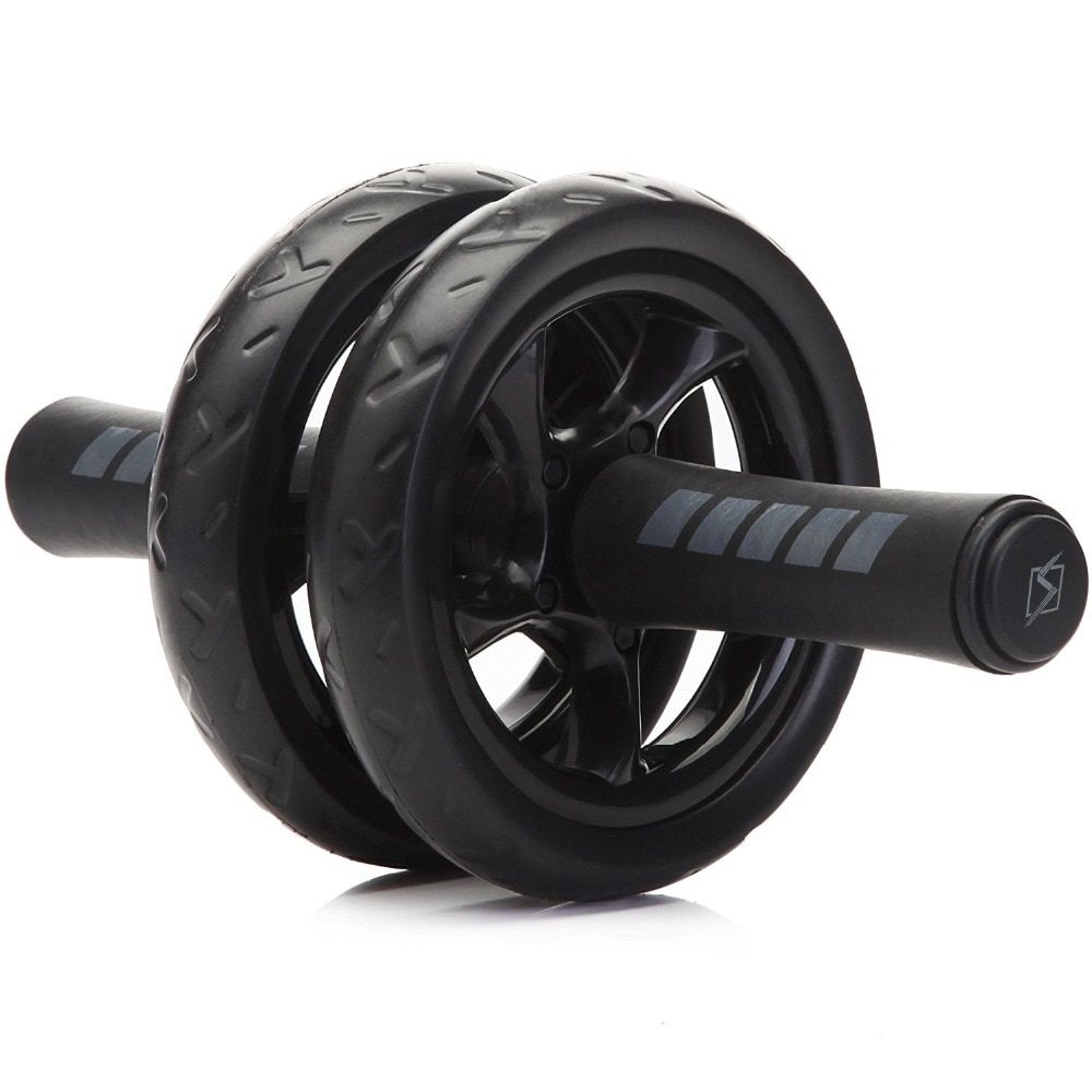 New Keep Fit Wheels No <font><b>Noise</b></font> Abdominal Wheel Ab Roller With Mat For Exercise Fitness Equipment