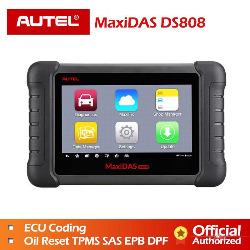 Autel MaxiDAS DS808 Volle Systeme OBDII Auto Diagnose Scanner Online Update DS808 Auto werkzeug Gleiche wie wie MS906 Freies verschiffen