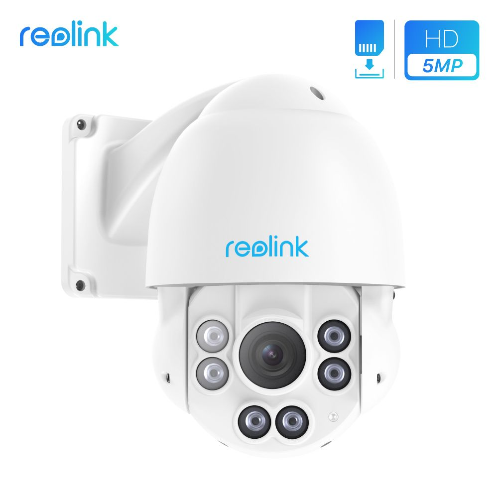 Reolink PTZ IP Camera PoE 5MP 3072*1728 Pan/Tilt 4x Optical Zoom HD Outdoor Motorized Lens Security Cam RLC-423-5MP