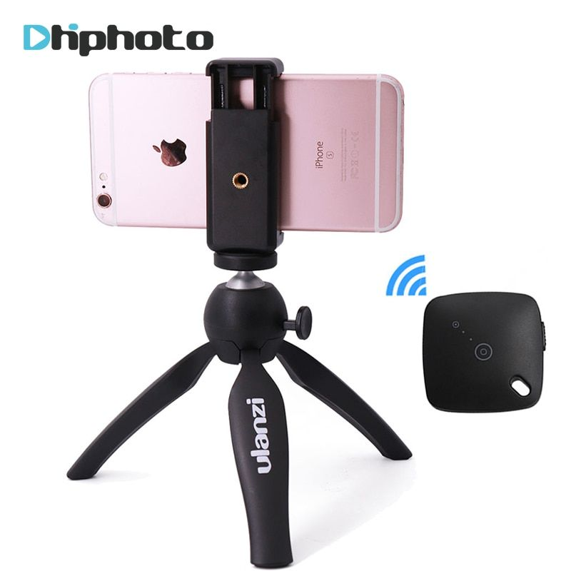 Ulanzi Mini Tripod with Phone Holder Mount, Portable Selfie Camera Tripod Monopod for iPhone X 7 Canon Nikon Gopro Smartphone