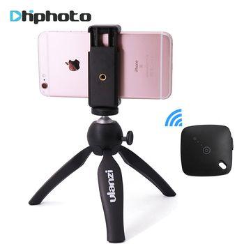 Ulanzi Mini Tripod with Phone Holder Mount, Portable Selfie Camera Tripod Monopod for iPhone X 7 Canon Nikon Gopro Smartphone