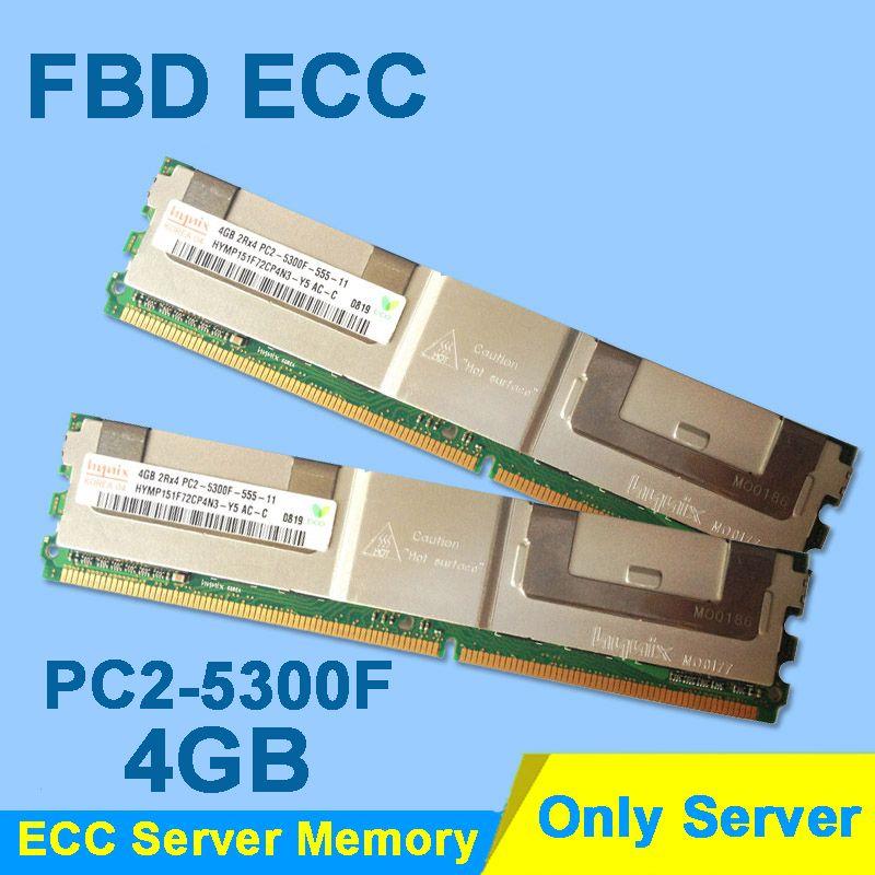 Server Memory For Hynix HP DDR2 4GB 8GB 16GB 32GB DDR 2 667MHz PC2-5300 2Rx4 4Rx4 FBD ECC PC2-5300F FB-DIMM RAM Only For Server