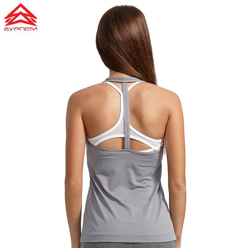 SYPREM Women Running Vest T - Back Dry And Light <font><b>Training</b></font> Vest High Elastic Sports vest Brand High Quality Running Vest,1FD0018