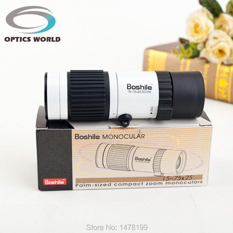Nuit vision monoculaire télescope Boshile 15-75x25 zoom hd monoculaires pour vente de haute qualité Poche voyage football avec trépied