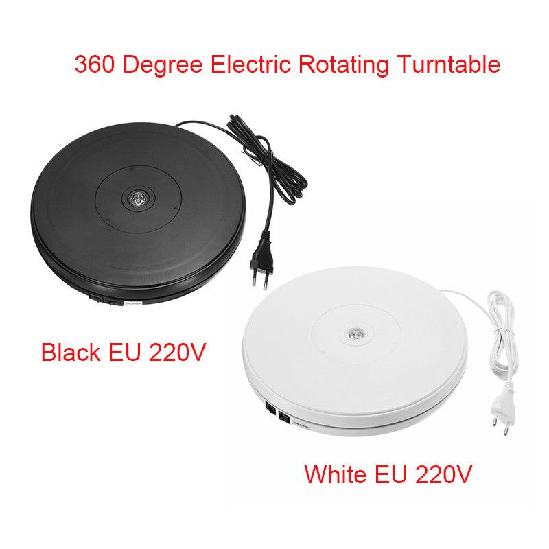 10 25cm Led Light 360 Degree Electric Rotating Turntable For Photography Max Load 10kg 220V EU