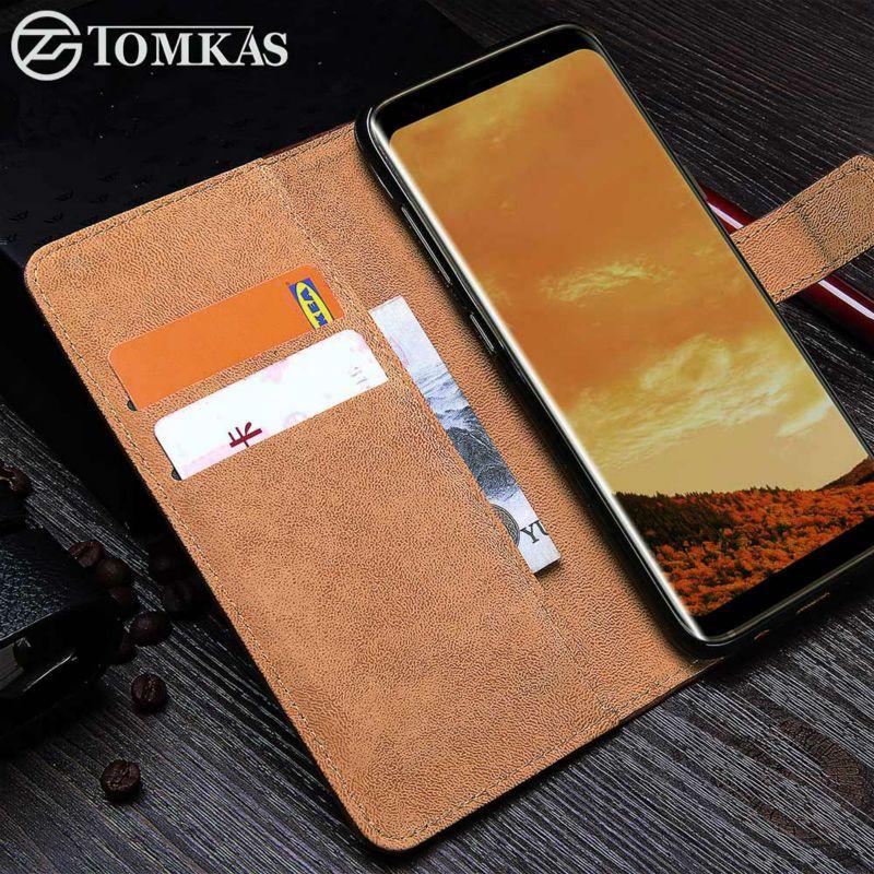 Tomkas чехол для Samsung Galaxy S8 PU кожаный бумажник Бизнес крышка для Galaxy S8 Plus Flip телефон сумка-чехол для samsung S8 Чехол