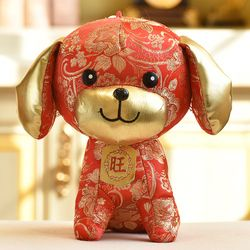 2018 Dog Year Mascot 23CM/30CM Stuffed Dolls Chinese New Year Gift Plush Dolls Toys for Company Annual Meeting Activities Party